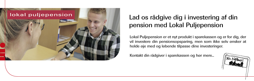 Lokal Puljepension i Sparekassen for Nørre Nebel og Omegn